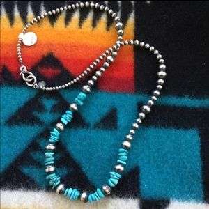 Jewelry - Navajo Sterling and turquoise necklace
